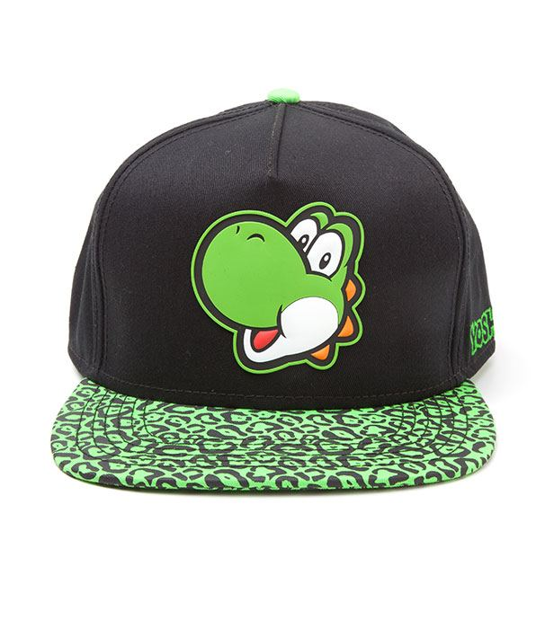 Photo du produit NINTENDO CASQUETTE HIP HOP SNAPBACK YOSHI RUBBER PATCH
