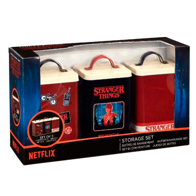 Photo du produit COFFRET DE 3 BOITES DE RANGEMENT STRANGER THINGS