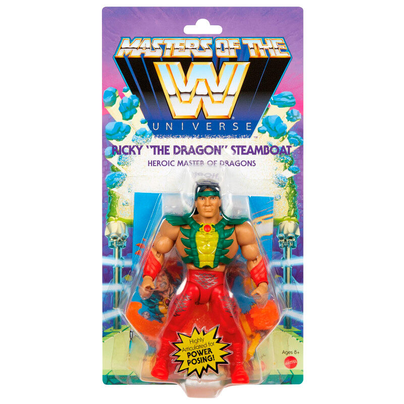 Photo du produit Figurine Ricky The Dragon Steamboat Masters of the WWE Universe 14cm