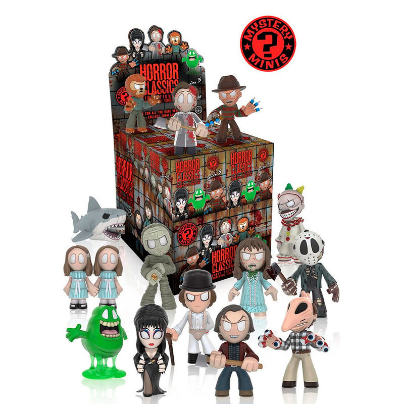 Photo du produit 12 MYSTERY MINIS HORROR COLLECTION 3 + PRESENTOIR