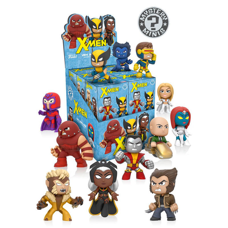 Photo du produit 12 MYSTERY MINIS MARVEL X-MEN + PRESENTOIR