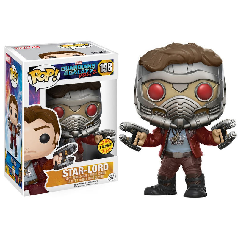 Photo du produit LES GARDIENS DE LA GALAXIE FUNKO POP STAR-LORD VERSION CHASE EXCLUSIVE