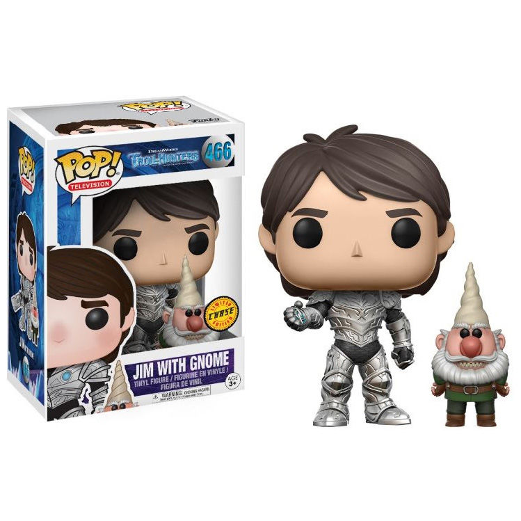 Photo du produit FIGURINE FUNKO POP TROLLHUNTERS JIM ARMORED WITH GNOME CHASE EXCLUSIVE
