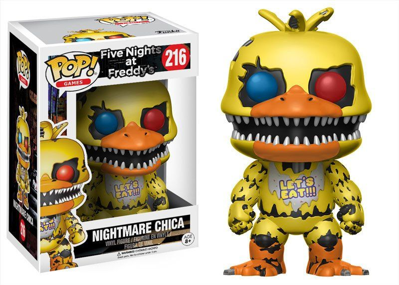 Photo du produit FIVE NIGHTS AT FREDDY'S POP! GAMES VINYL FIGURINE NIGHTMARE CHICA