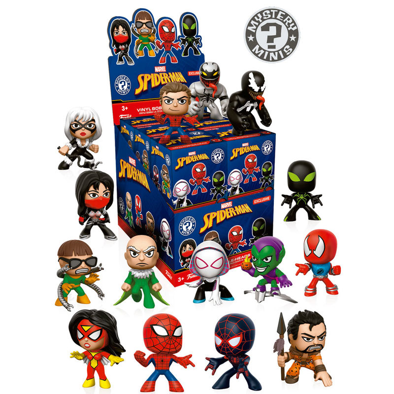 Photo du produit 12 MYSTERY MINIS MARVEL SPIDERMAN VARIANT 2 + PRESENTOIR
