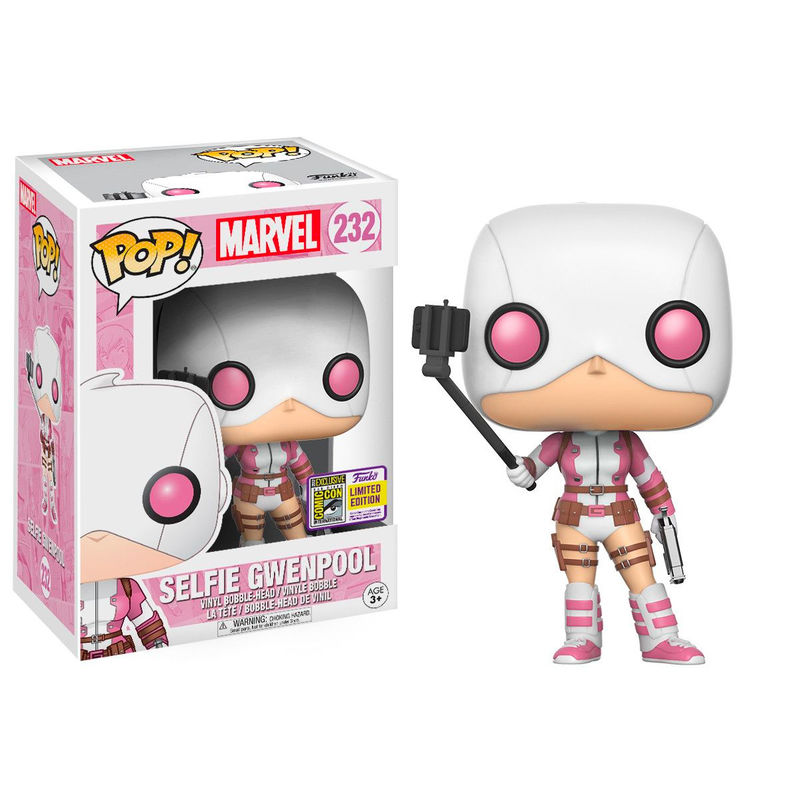 Photo du produit FUNKO POP MARVEL SELFIE GWENPOOL SDCC 2017 EXCLUSIVE