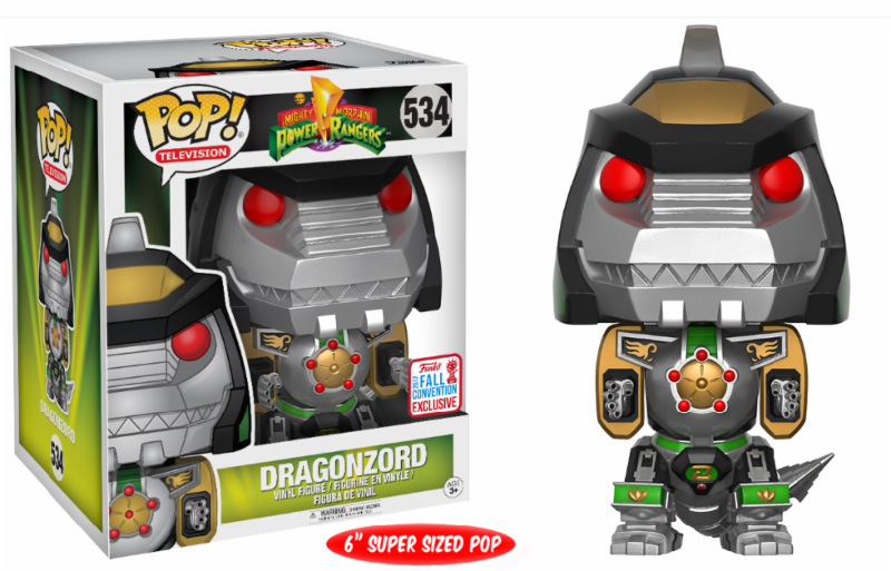 Photo du produit  FUNKO POP POWER RANGERS DRAGONZORD NYCC 2017 EXCLUSIVE