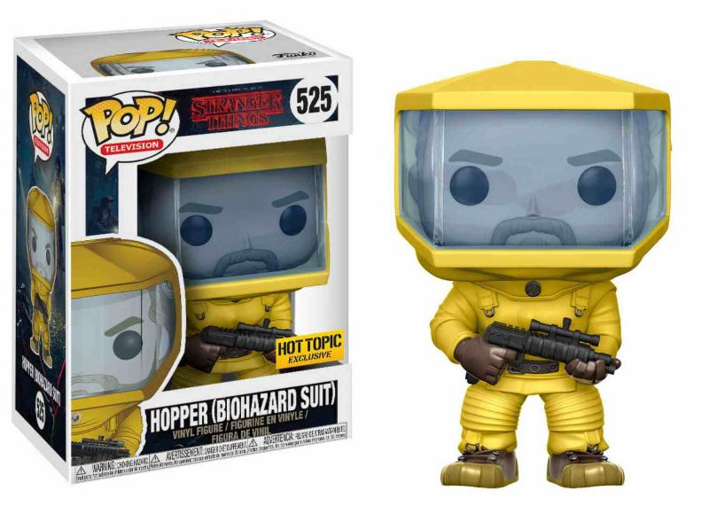 Photo du produit FUNKO POP STRANGER THINGS HOPPER IN BIO HAZARD SUIT EXCLUSIVE