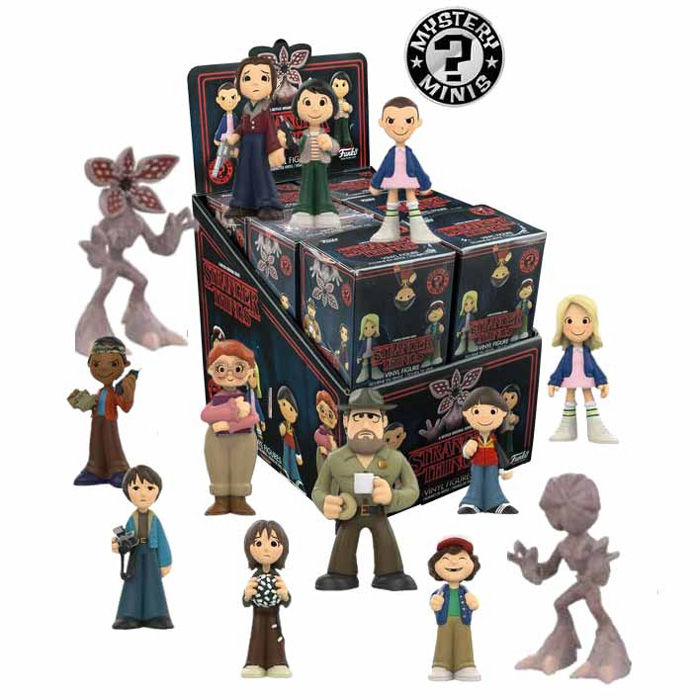Photo du produit 12 FIGURINES MYSTERY MINIS STRANGER THINGS + PRESENTOIR
