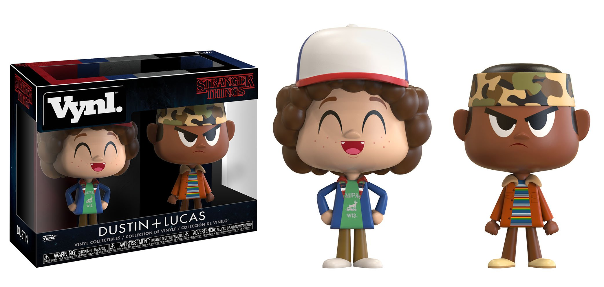 Photo du produit STRANGER THINGS PACK 2 VYNL FIGURINES DUSTIN & LUKAS