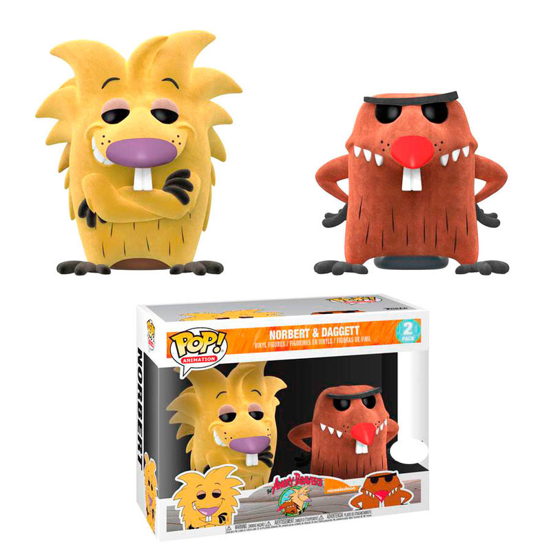 Photo du produit SET 2 FIGURINES FUNKO POP ANGRY BEAVERS NORBERT & DAGGETT FLOCKED EXCLUSIVE