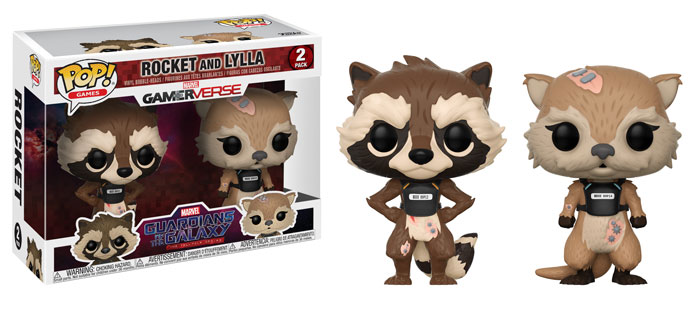 Photo du produit PACK 2 FUNKO POP MARVEL GUARDIANS OF THE GALAXY ROCKET & LYLLA