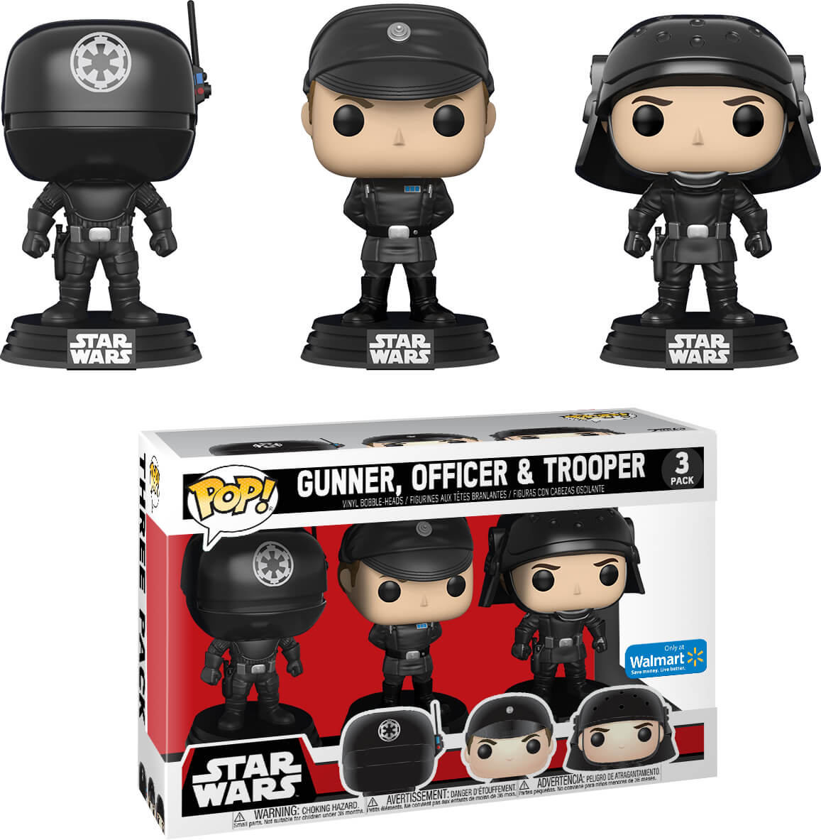 Photo du produit PACK 3 FUNKO POP! STAR WARS GUNNER OFFICER & TROOPER EXCLUSIVE