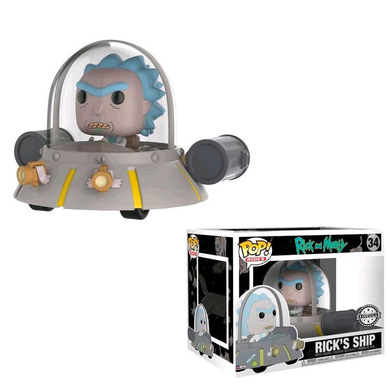Photo du produit RICK ET MORTY POP! RIDES FIGURINE RICK'S SHIP SPACE CRUISER 15 CM