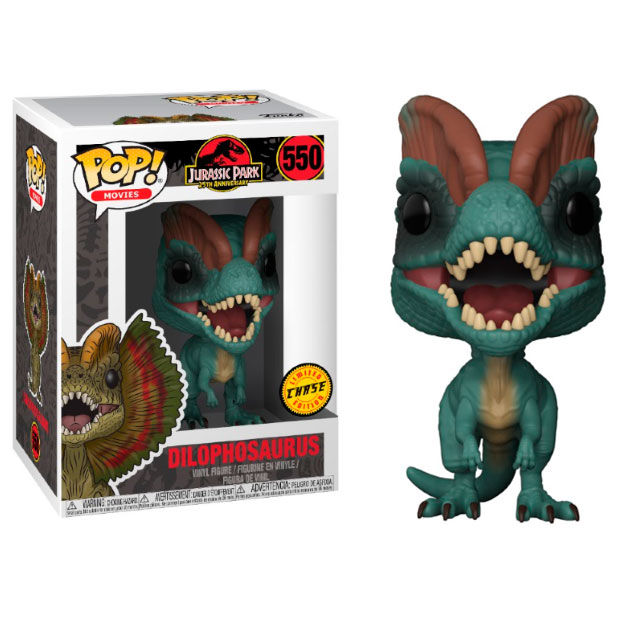 Photo du produit FIGURINE FUNKO POP JURASSIC PARK DILOPHOSAURUS CHASE EXCLUSIVE