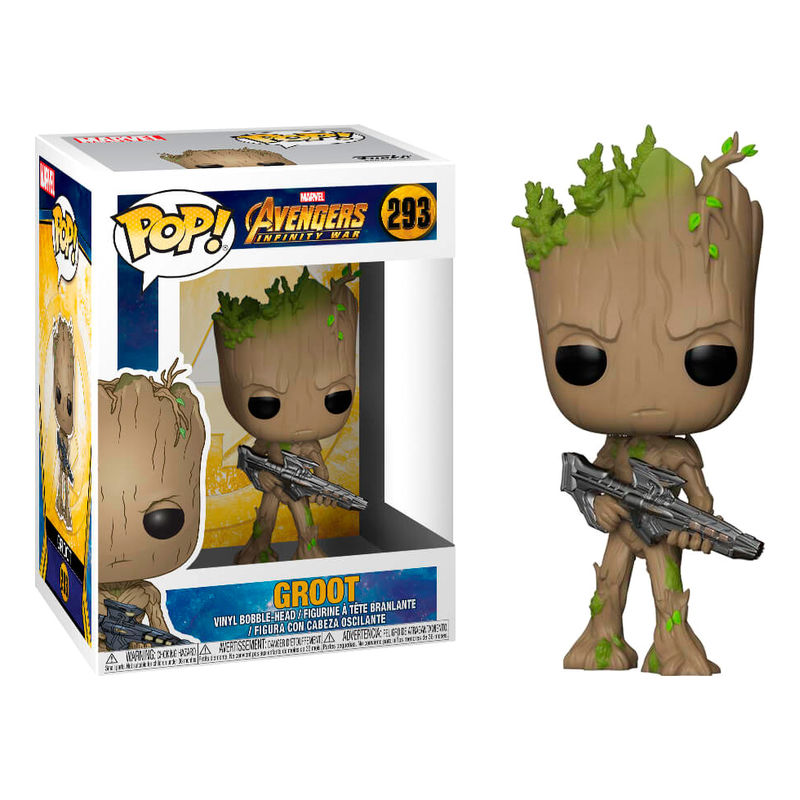 Photo du produit FUNKO POP POP MARVEL AVENGERS INFINITY WAR TEEN GROOT WITH GUN