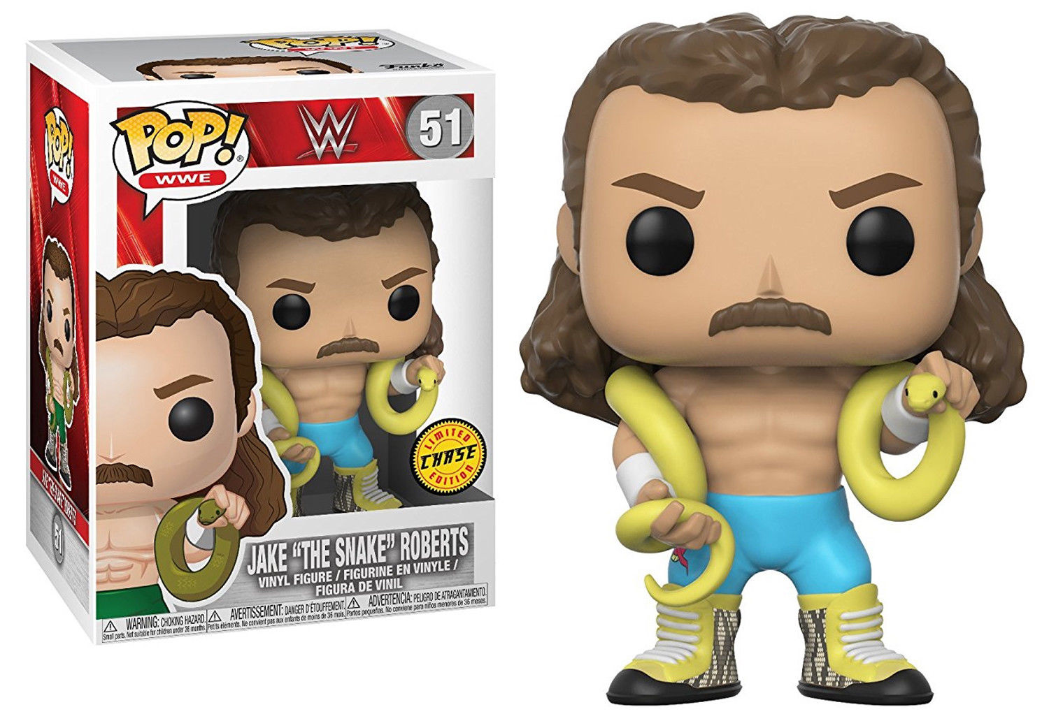 Photo du produit FUNKO POP WWE JAKE THE SNAKE VERSION CHASE EXCLUSIVE