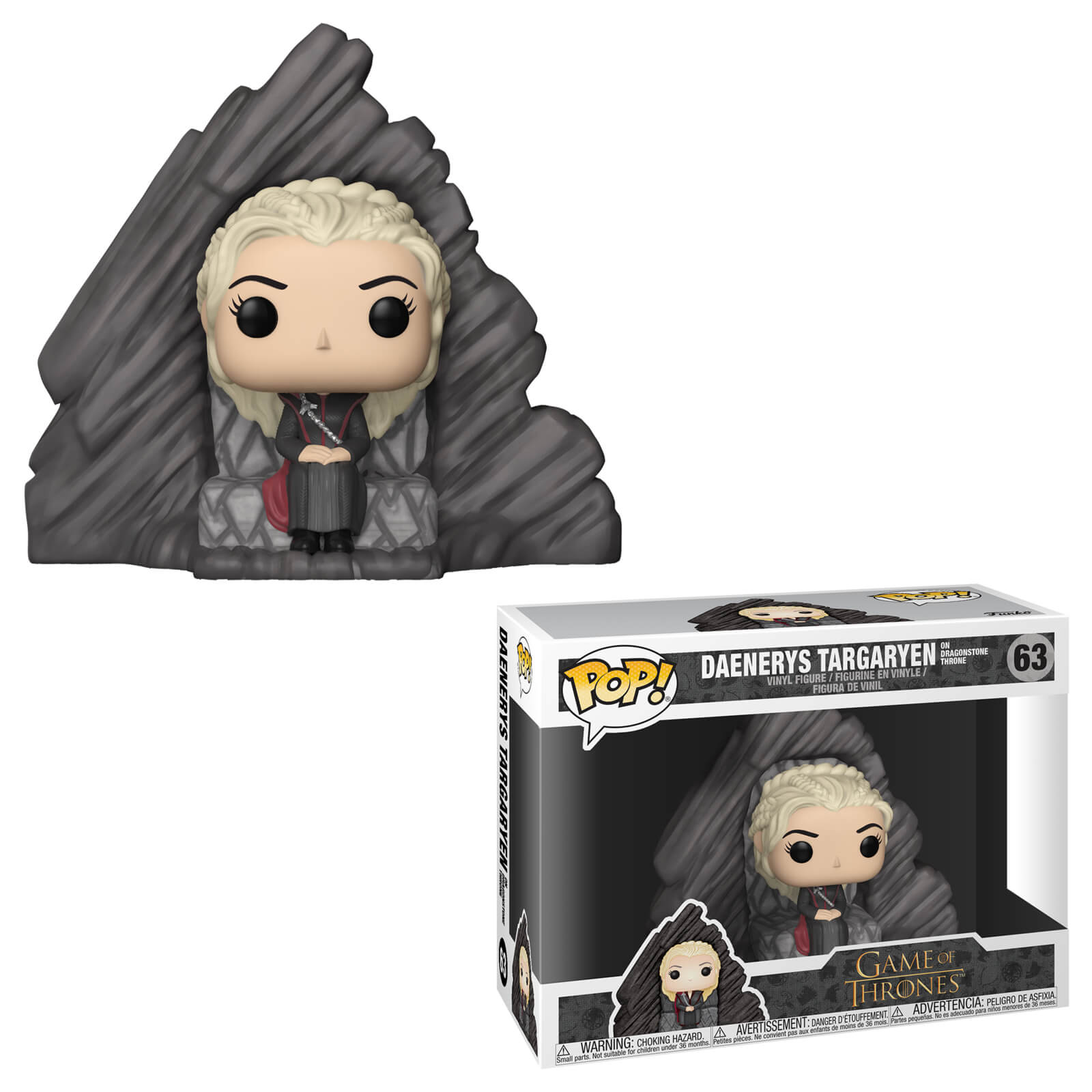 Photo du produit GAME OF THRONES FUNKO POP RIDES DAENERYS ON DRAGONSTONE THRONE