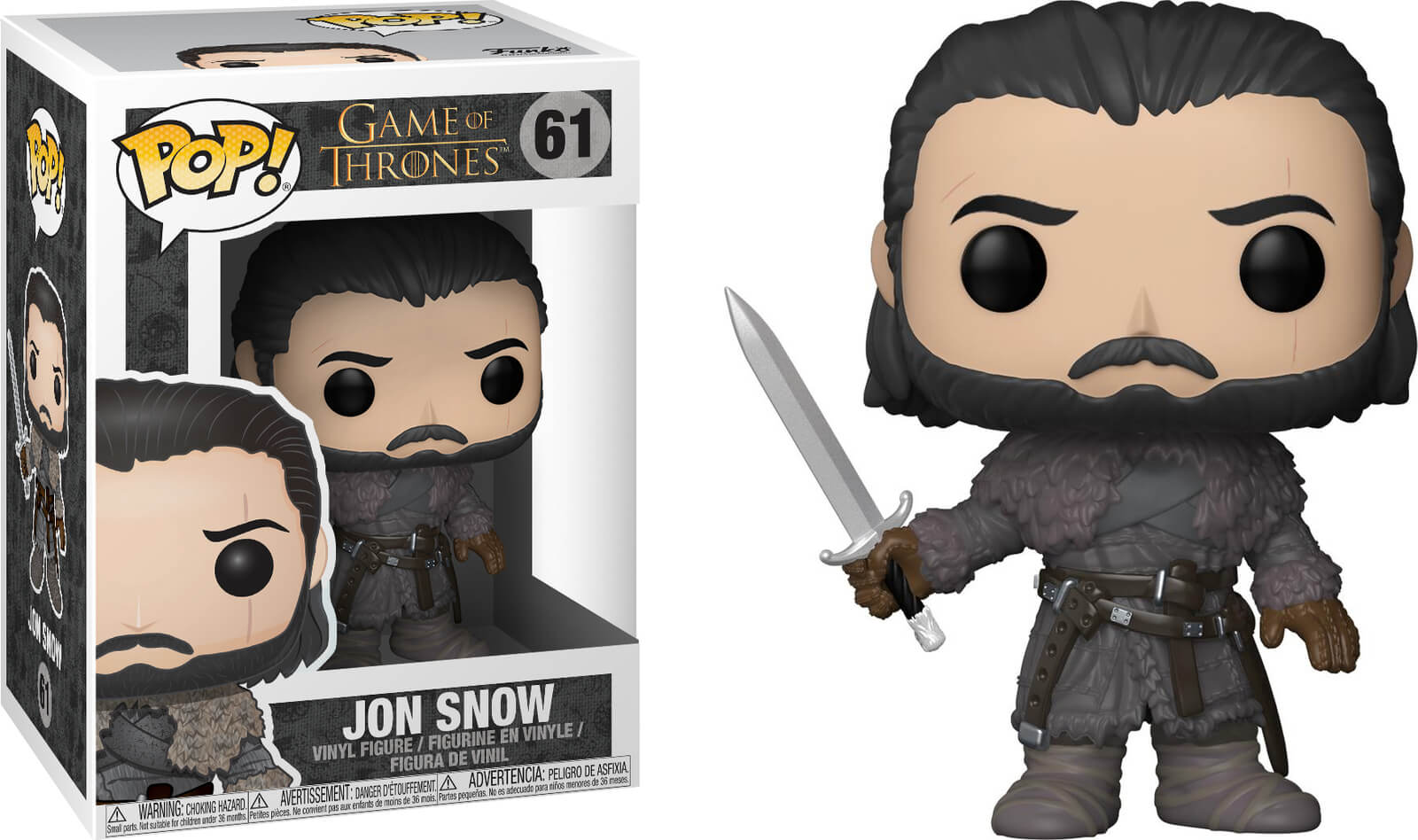 Photo du produit GAME OF THRONES FUNKO POP JON SNOW (BEYOND THE WALL)