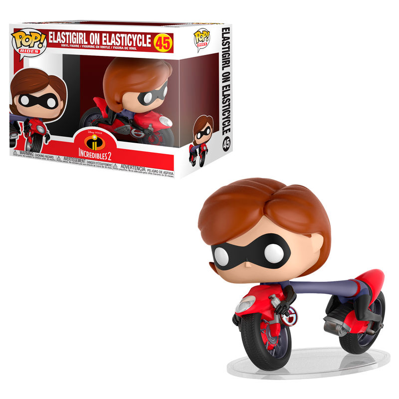 Photo du produit LES INDESTRUCTIBLES 2 POP! RIDES ELASTIGIRL ON ELASTICYCLE