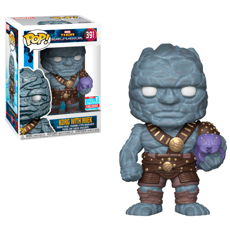 Photo du produit FUNKO POP MARVEL THOR RAGNAROK KORG HOLDING MIEK EXCLUSIVE