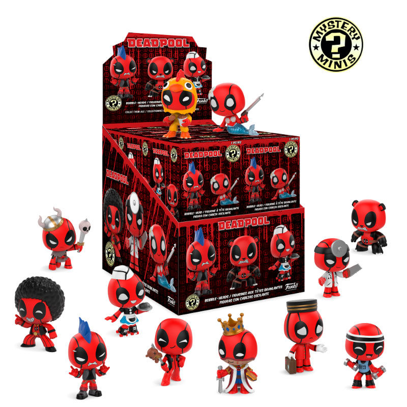 Photo du produit PACK DE 12 FIGURINES MYSTERY MINI DEADPOOL + PRESENTOIR
