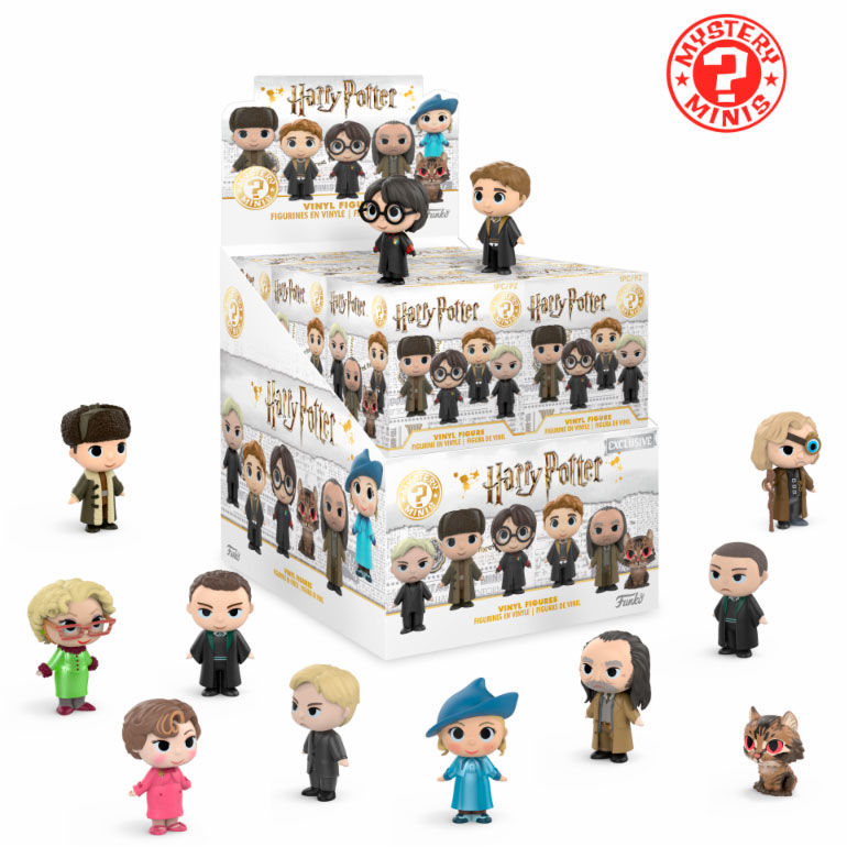 Photo du produit PACK DE 12 FIGURINES MYSTERY HARRY POTTER SERIE 3 + PRESENTOIR