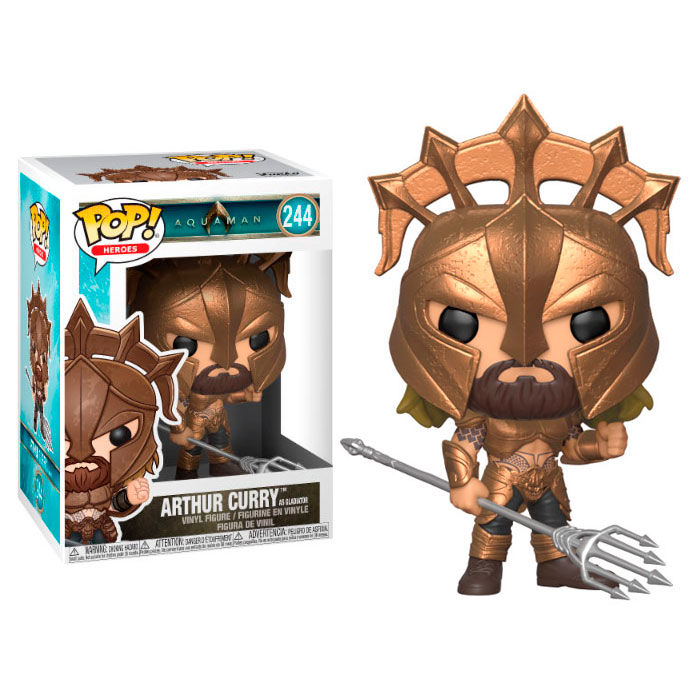 Photo du produit FUNKO POP DC COMICS AQUAMAN ARTHUR CURRY AS GLADIATOR
