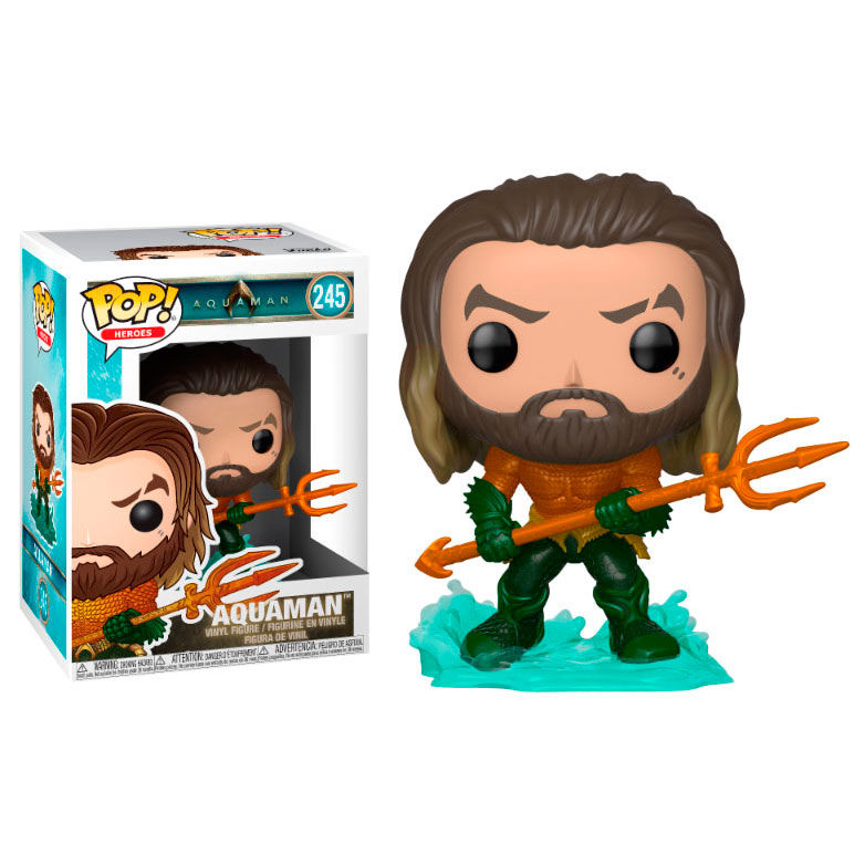 Photo du produit FUNKO POP DC COMICS AQUAMAN ARTHUR CURRY IN HERO SUIT