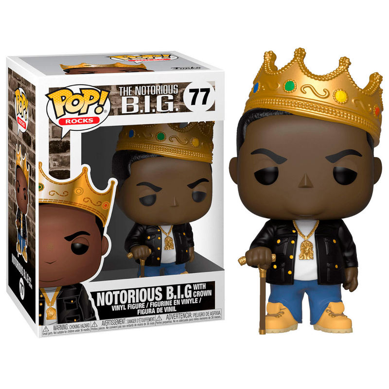 Photo du produit FIGURINE FUNKO POP NOTORIOUS B.I.G. WITH CROWN