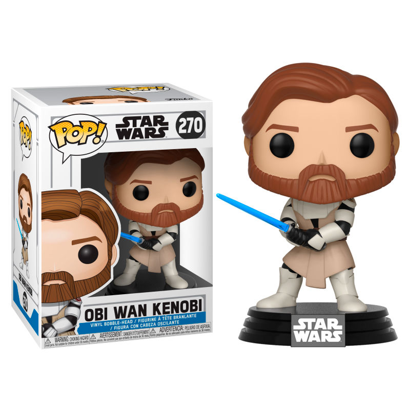 Photo du produit FUNKO POP STAR WARS CLONE WARS OBI WAN KENOBI