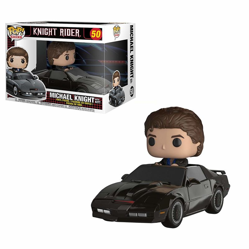 Photo du produit FIGURINE FUNKO POP K2000 KNIGHT RIDER RIDES KITT & MICHAEL KNIGHT