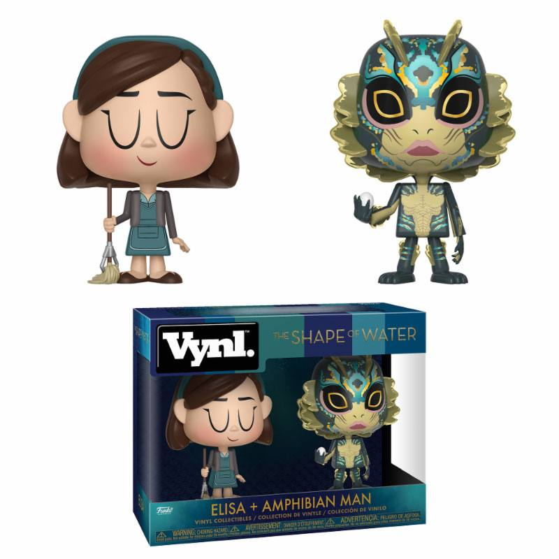Photo du produit LA FORME DE L'EAU ASSORTIMENT PACK 2 VYNL VINYL FIGURINES ELISA & AMPHIBIAN MAN
