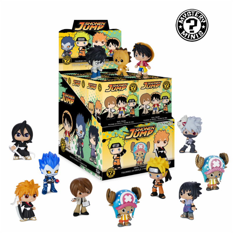 Photo du produit PACK DE 12 FIGURINES MYSTERY BEST OF ANIME SERIE 1 + PRESENTOIR