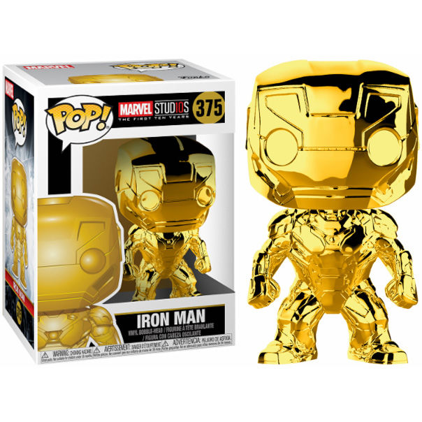 Photo du produit FUNKO POP MARVEL STUDIOS 10 IRON MAN GOLD CHROME