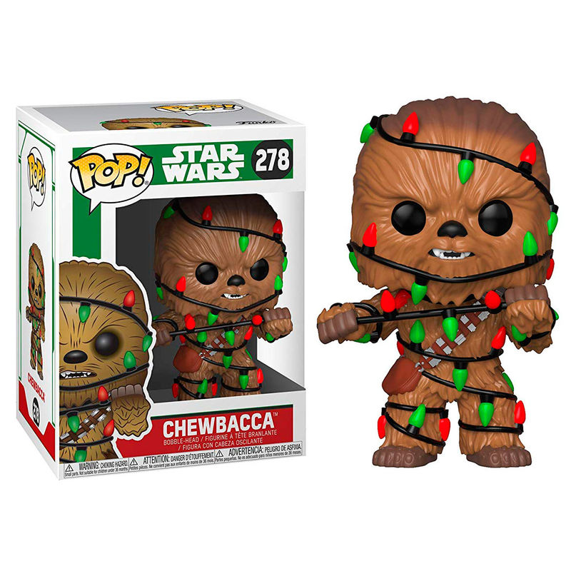 Photo du produit FUNKO POP STAR WARS HOLIDAY CHEWIE WITH LIGHTS