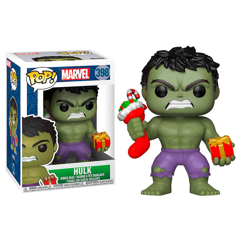 Photo du produit FIGURINE FUNKO POP MARVEL HOLIDAY HULK WITH STOCKING & PLUSH