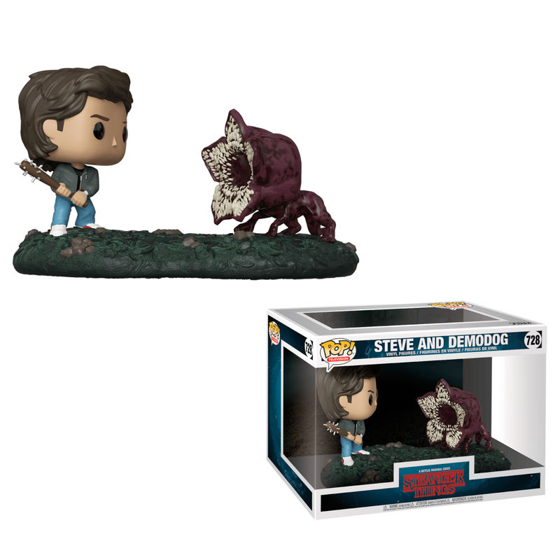 Photo du produit STRANGER THINGS PACK 2 POP! MOVIE MOMENTS STEVE & DEMODOG