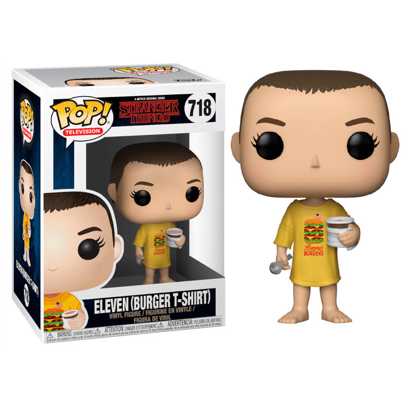 Photo du produit FIGURINE POP STRANGER THINGS ELEVEN IN BURGER TEE