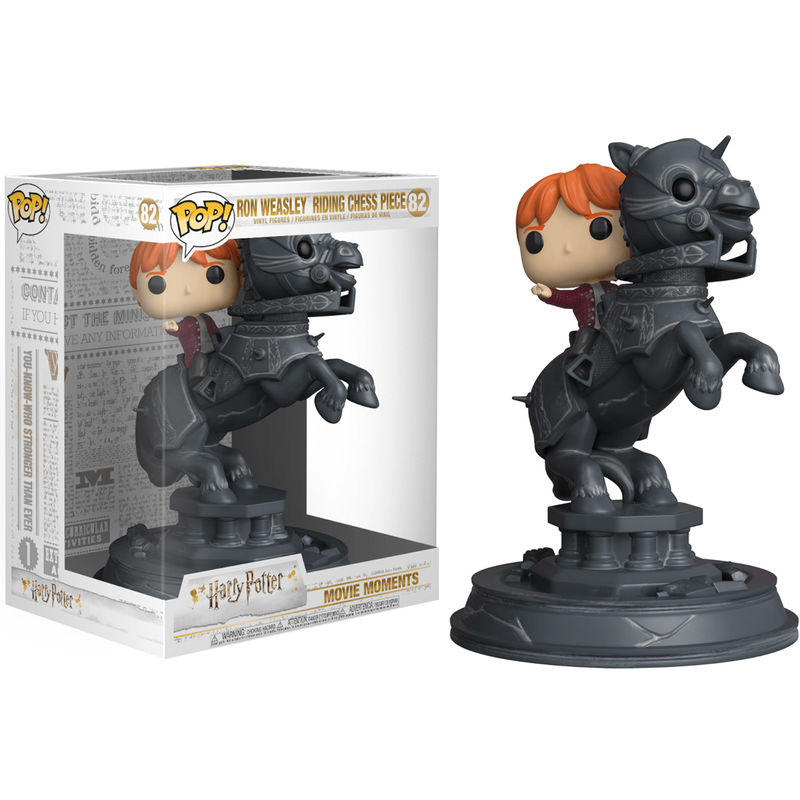 Photo du produit FIGURINE FUNKO POP MOVIE MOMENTS HARRY POTTER RON RIDING CHESS PIECE