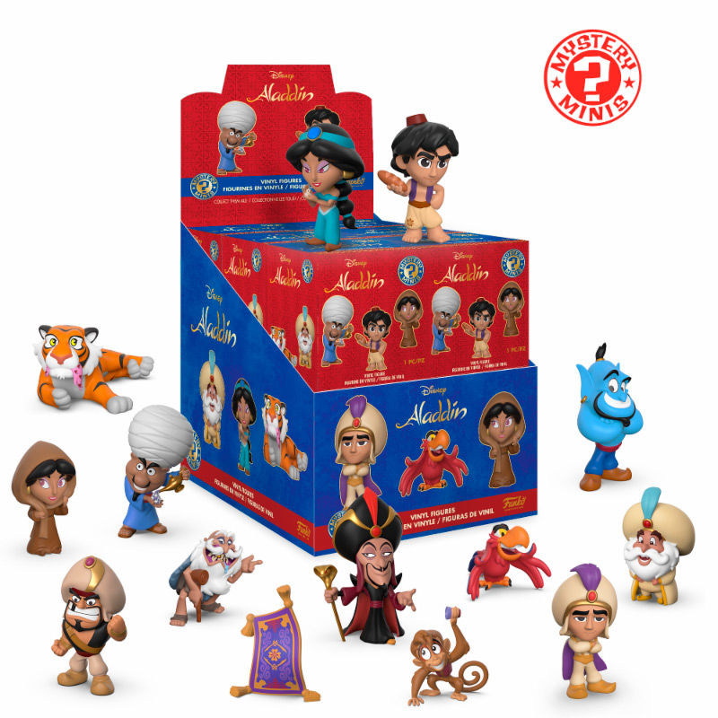 Photo du produit 12 MYSTERY MINIS DISNEY ALADDIN + PRESENTOIR