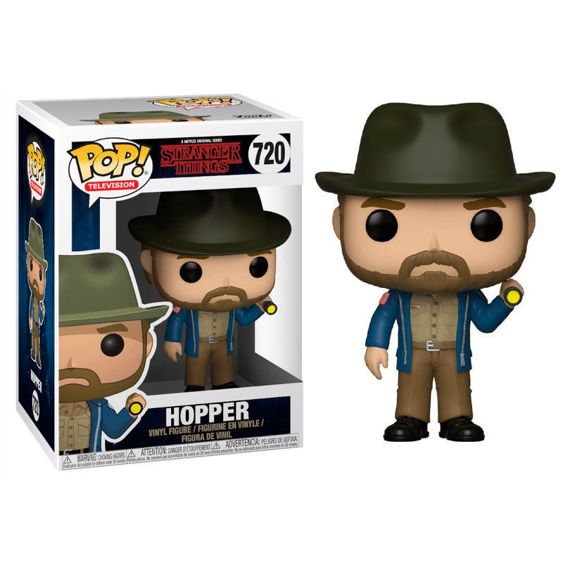 Photo du produit FIGURINE POP STRANGER THINGS HOPPER & FLASHLIGHT