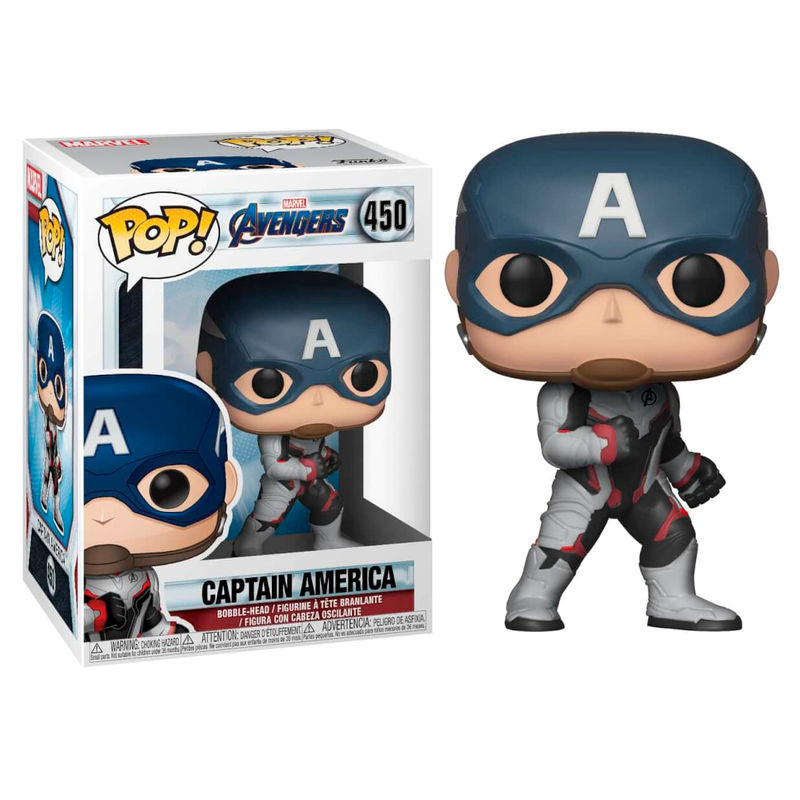 Photo du produit AVENGERS ENDGAME POP! MOVIES VINYL FIGURINE CAPTAIN AMERICA