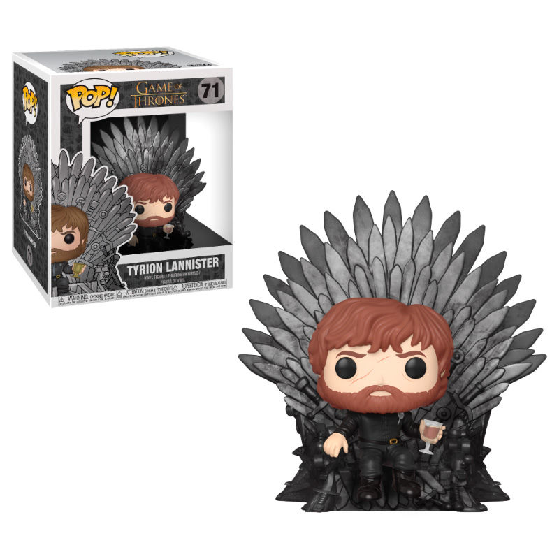 Photo du produit FIGURINE FUNKO POP GAME OF THRONES DELUXE TYRION SITTING ON IRON THRONE