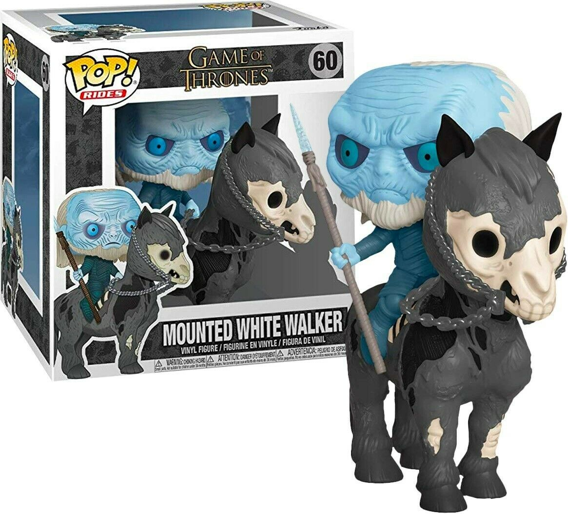 Photo du produit GAME OF THRONES POP! RIDES VINYL FIGURINE WHITE WALKER ON HORSE 15 CM