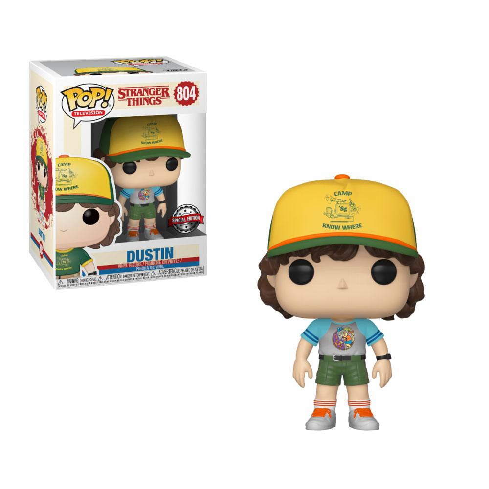 Photo du produit STRANGER THINGS POP! TV VINYL FIGURINE DUSTIN ARCADE CAT TEE 9 CM