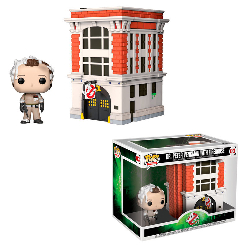 Photo du produit SOS FANTÔMES POP! TOWN VINYL FIGURINE DR. PETER VENKMAN & HOUSE 9 CM