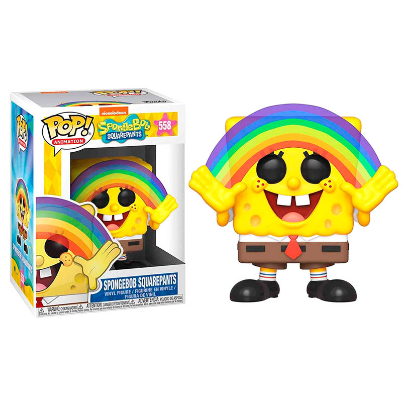 Photo du produit BOB L´ÉPONGE POP! VINYL FIGURINE SPONGEBOB RAINBOW 9 CM