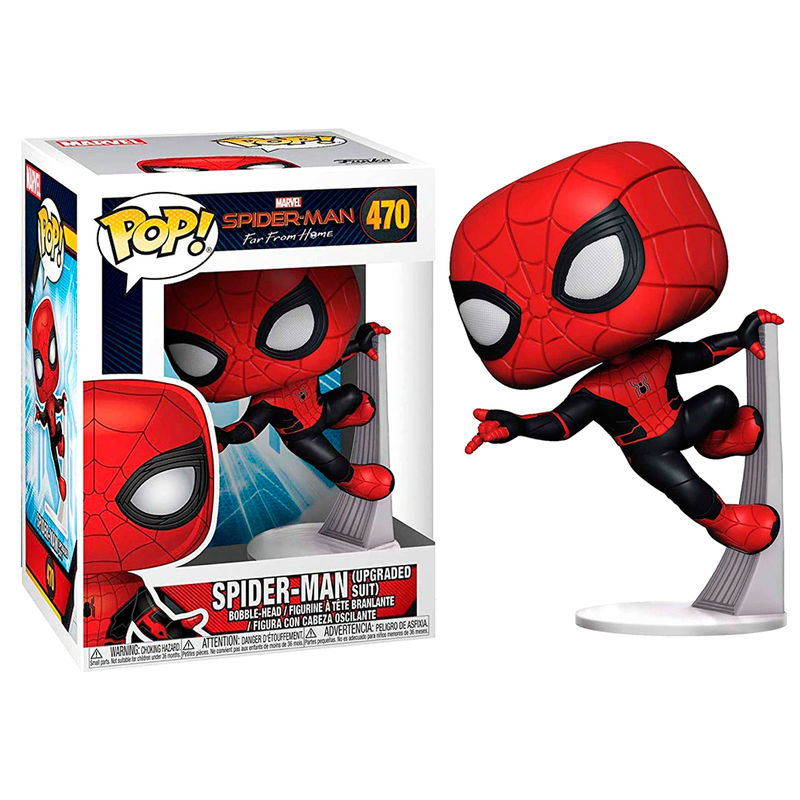 Photo du produit SPIDER-MAN FAR FROM HOME FIGURINE POP! SPIDER-MAN (UPGRADED SUIT)