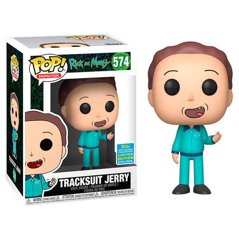 Photo du produit FIGURINE FUNKO POP RICK & MORTY TRACKSUIT JERRY EXCLUSIVE SDCC